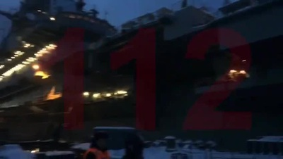 Tàu sân bay duy nhất của Nga bị hỏa hoạn