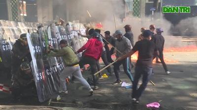 Hình ảnh diễn tập chống gây rối trật tự tại TPHCM