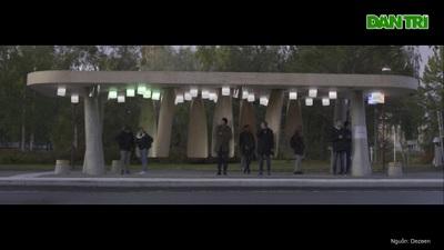 """Trạm dừng xe buýt dựng """"giường đứng"""" cho hành khách ở Bắc Cực"""