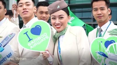 """Chiêm ngưỡng máy bay thân rộng Boeing 787-9 Dreamliner tiếp theo mang tên  """"Sam Son Beach"""" của Bamboo Airways"""