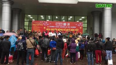 Hà Nội: Hơn 300 bệnh nhân được về quê đón Tết miễn phí