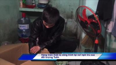 Thợ sửa điện nước vừa bị công an Đà Nẵng bắt khẩn cấp để điều tra hành vi trộm cắp tại công trình ở Đà Nẵng