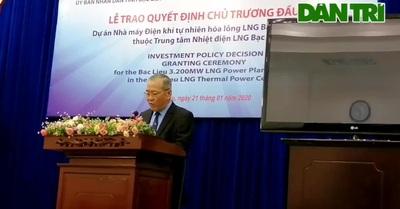 Đại diện tỉnh Bạc Liêu sơ lược dự án tỷ đô.