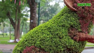 Độc đáo linh vật năm Canh Tý 2020 trong công viên Thống Nhất