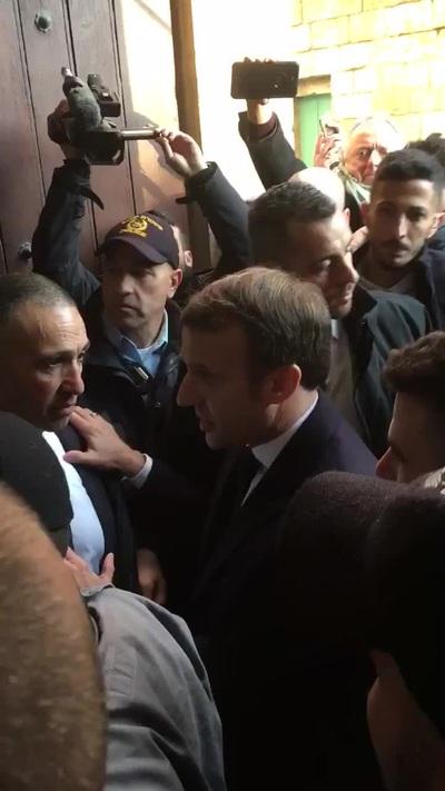 """Tổng thống Pháp Macron """"nổi đóa"""" với cảnh sát Israel"""