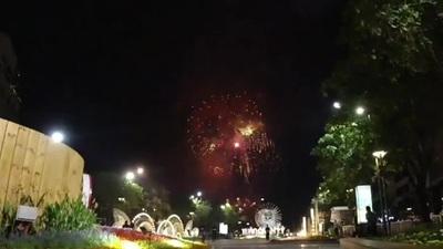 Ấn tượng màn pháo hoa gần với phố đi bộ Nguyễn Huệ