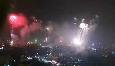 Màn pháo hoa ở Quảng trường Hồ Chí Minh