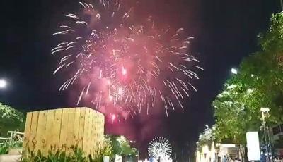 Màn pháo hoa trên bầu trời TP HCM
