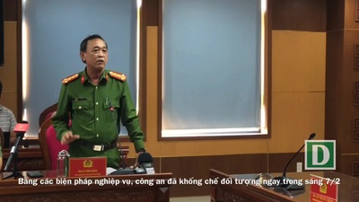 Đại tá Trần Mưu - Phó Giám đốc Công an TP Đà Nẵng thông tin quá trình xác định và bắt tạm giữ đối tượng liên quan vụ vali chứa thi thể trôi trên sông Hàn