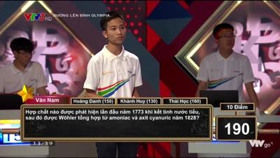 Trần Văn Nam có chiến thuật hợp lý, giành chiến thắng cuộc thi tháng Olympia