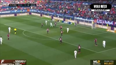Osasuna 1-4 Real Madrid: Đoàn quân HLV Zidane vững ngôi đầu