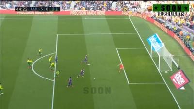 Messi ghi 4 bàn, Barcelona thắng đậm Eibar và giành ngôi đầu bảng