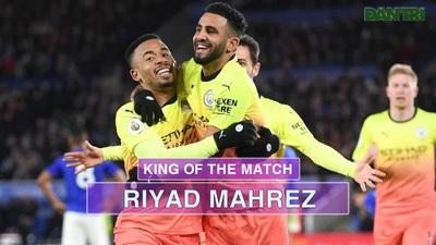 Thống kê trận Man City thắng 1-0 trước Leicester