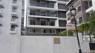 Biệt thự vượt tầng dự án Ocean View Nha Trang vẫn thi công rầm rộ