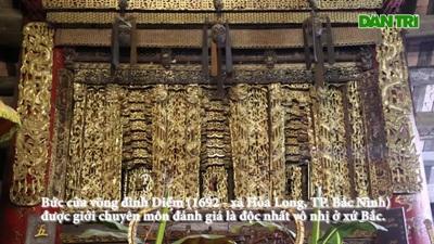 """Chiêm ngưỡng bảo vật quốc gia """"độc nhất vô nhị"""" tại đình làng Diềm"""