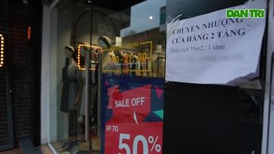 Loạt cửa hàng ở Hà Nội đóng cửa, trả mặt bằng vì kinh doanh ế ẩm