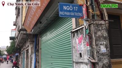 Khu chợ sinh viên Hà Nội đồng loạt đóng cửa phòng dịch Covid-19