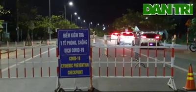 Chốt kiểm soát tại ngã ba Lai Nghi (Hội An) tối ngày 2/4