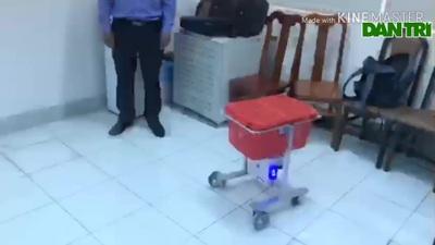 Bác sĩ Đồng Tháp chế tạo robot phục vụ bệnh nhân cách ly