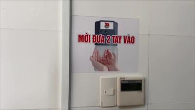 Máy rửa tay sát khuẩn tự động được sử dụng tại bệnh viện