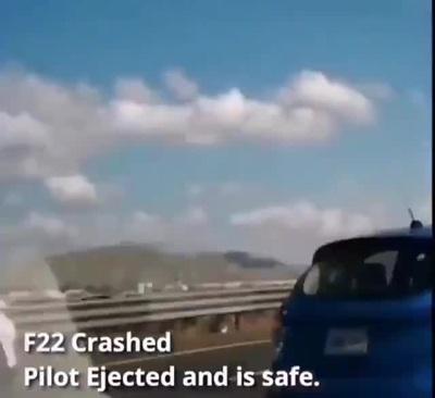 """""""Chim ăn thịt"""" F-22 rơi tại Mỹ, phi công thoát hiểm trong gang tấc"""