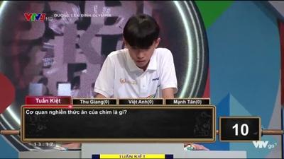 Tuấn Kiệt giành 90 điểm ở phần thi Khởi động