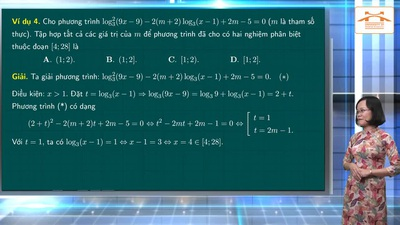 Ôn tập Toán thi tốt nghiệp THPT 2020: Phương trình mũ và phương trình Lôgarit