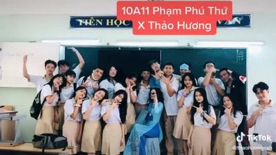 Video thu hút gần 10 triệu view trên TikTok của cô giáo Thảo Hương
