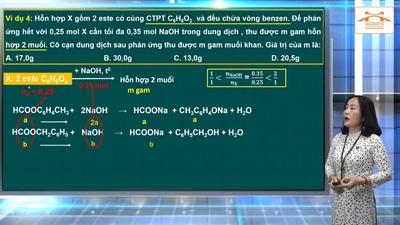 Ôn tập Hóa học thi tốt nghiệp THPT 2020: Hợp chất hữu cơ với dung dịch kiềm