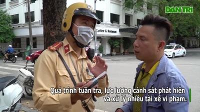 """Hà Nội: Hàng loạt """"ma men"""" bị xử phạt ngay khi vừa rời quán bia"""
