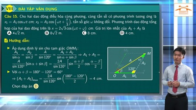 Ôn tập Vật lý thi THPT 2020: Tổng hợp hai dao động điều hòa cùng phương, cùng tần số (Phần 3)