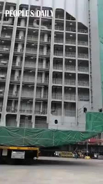 Trung Quốc di chuyển tòa nhà khổng lồ nặng hàng nghìn tấn