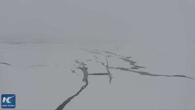 Bão tuyết bất ngờ xuất hiện giữa mùa hè ở Trung Quốc