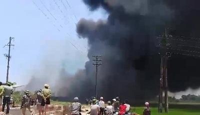 Cháy lớn trong khu công nghiệp
