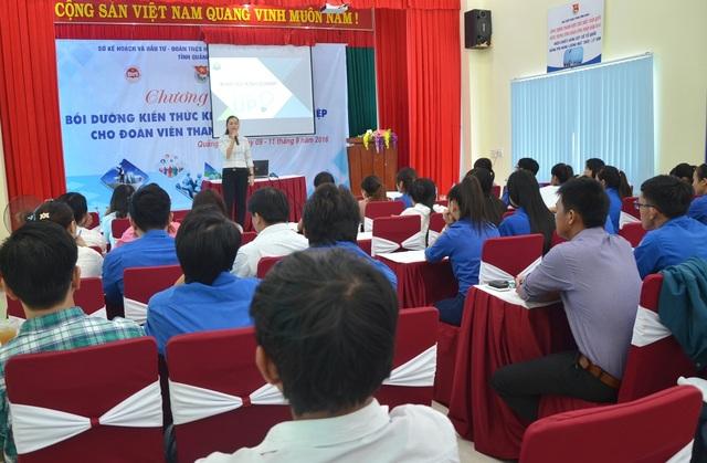 Lớp khởi nghiệp thu hút nhiều đoàn viên, thanh niên và sinh viên tham gia.