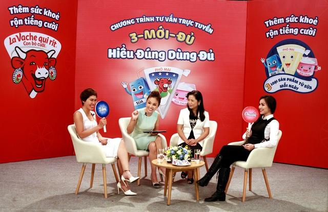 """PGS.TS Lê Bạch Mai,, ca sỹ Hiền Thục, mẹ Uyên Bùi và Thanh Vân Hugo đã có cuộc trò chuyện thú vị xoay quanh công thức vàng """"3 mới đủ"""", bao gồm sữa, phô mai và sữa chua"""