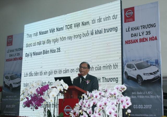 Ngài Dato' Dr. Ang Bon Ben - Chủ tịch Nissan Việt Nam, phát biểu tại lễ khai trương đại lý 3S Nissan Biên Hòa vào ngày 03/03/2017