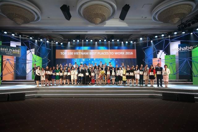 Top 100 nơi làm việc tốt nhất Việt Nam do mạng cộng đồng nghề nghiệp cấp quản lý Anphabe.com phối hợp với Công ty Nghiên cứu thị trường Nielsen thực hiện khảo sát và công bố.