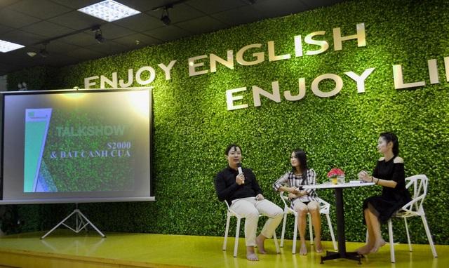 Nghe và nói trực tiếp tại các Talkshow sẽ khiến học viên có tư duy và phản xạ tiếng Anh tốt hơn