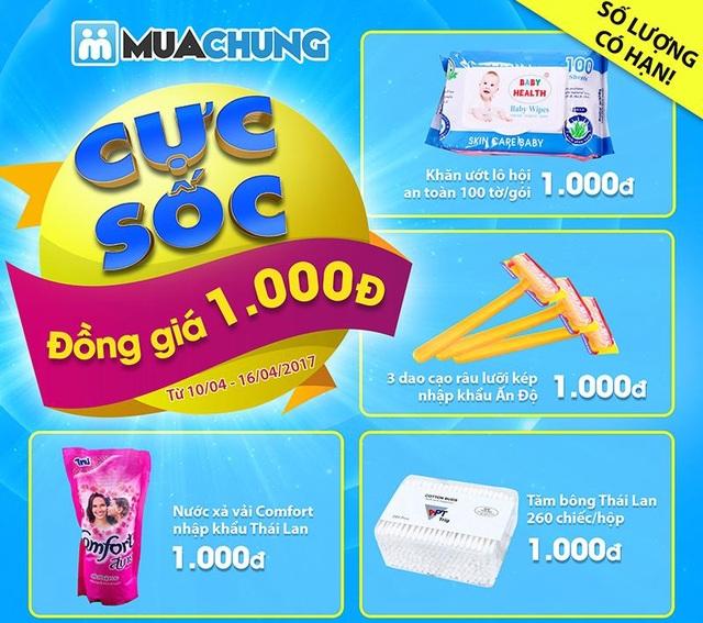 Bạn có tin không: Mua hàng chỉ với 1.000Đ tại cửa hàng Muachung Hà Đông - 1