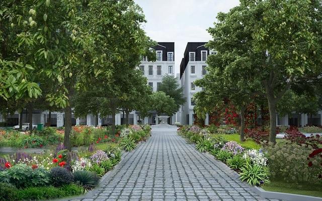 Dự án với 66 căn shophouse, liền kề mang dáng dấp sang trọng, lịch lãm của kiến trúc tân cổ điển Pháp, ôm trọn trong mình hệ sinh thái xanh an lành giữa lòng thủ đô sầm uất.