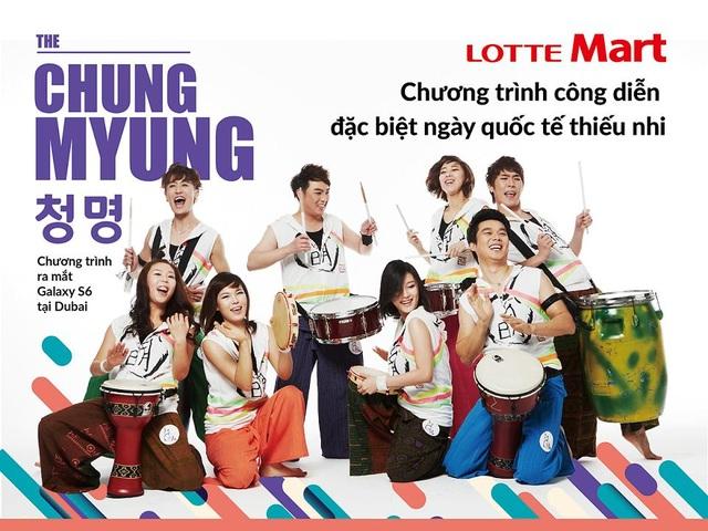 Nhóm Chung Myung sẽ đến biểu diễn nhạc cụ truyền thống Hàn Quốc tại LOTTE Mart Quận 7 và LOTTE Mart Gò Vấp