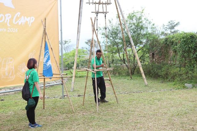 Leonel Peláez trong một hoạt động của trại hè GPA Outdoor Camp