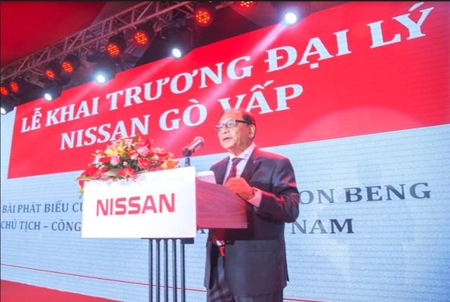 Ông Dato' Dr Ang Bon Beng - Chủ Tịch Nissan Việt Nam phát biểu tại Lễ Khai trương Đại lý 3S Nissan Gò Vấp vào ngày 18/06/2017
