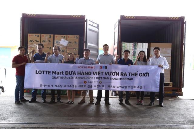 Lô hàng Chocie L được LOTTE Mart xuất sang Myanmar vào giữa tháng 6
