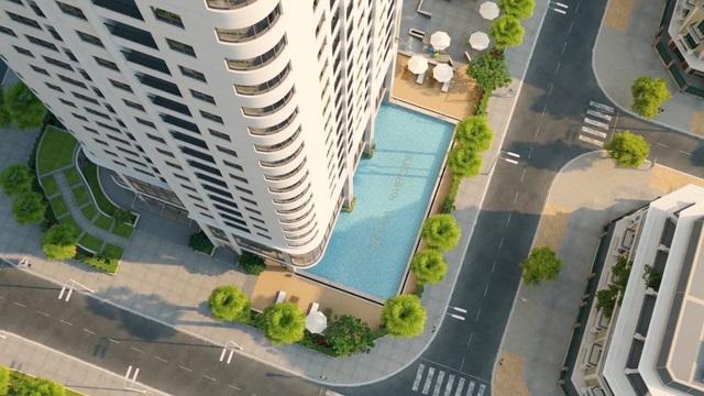 Tòa CT1 đang được mở bán sở hữu 1 trong 2 bể bơi 4 mùa của dự án