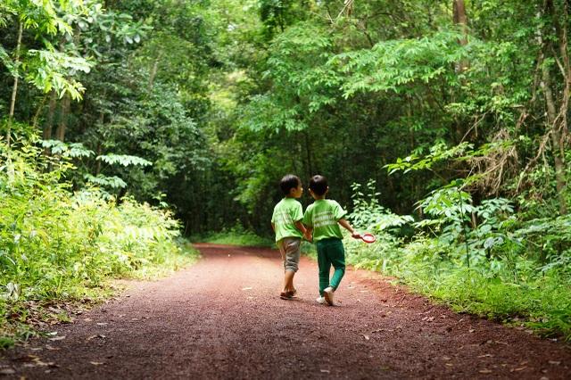 Ken và Rio cùng nhau khám phá khu rừng