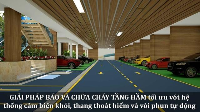 Tầng hầm xuyên sáng đầu tư gần 100 tỉ là điểm nhấn của La Casa Villa.