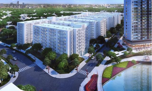 Phối cảnh khu căn hộ EHomeS Nam Sài Gòn bán đồng gái chỉ 658 triệu đồng/căn.