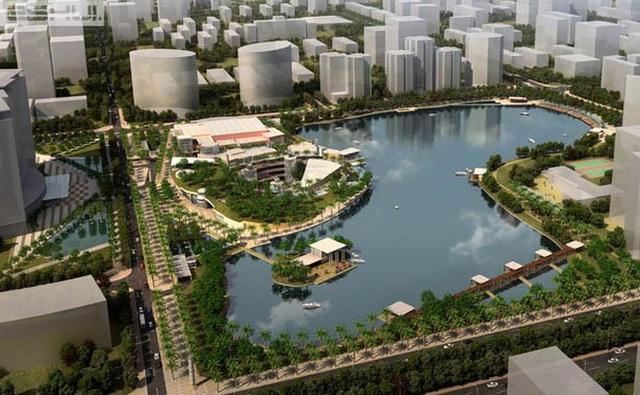 Là nhà thầu xây dựng có tiếng trên thị trường, Cotana Group đã góp phần triển khai thành công nhiều dự án lớn. (Ảnh: Dự án Công viên hồ điều hòa Nhân Chính)